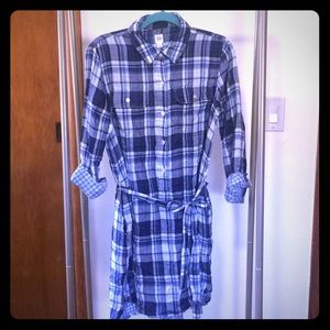 Gap long sleeve shirtdress